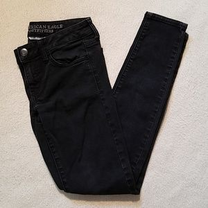 AMERICAN EAGLE BLACK SKINNY JEGGING SZ 4